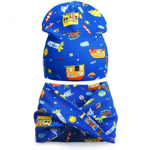 Комплект шапка и шарф для мальчика 3-5 лет №SG108