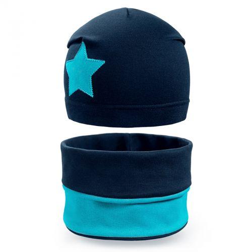 Комплект шапка и шарф для мальчика 6-12 лет №SG124